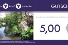 bvv-Geschenkgutschein - Wert 5,00 EUR