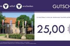 bvv-Geschenkgutschein - Wert 25,00 EUR